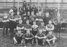 Inaugural Port Adelaide 1870 team members with 1890 players